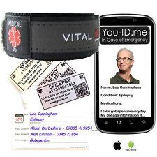 Epilepsy Seizure Medical Identity Bracelet Band SOS Alert ID Wristband SMS Phone