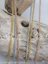 """Double Link Chain For Coin/Moneda Pendant 36"""" 90cm Genuine Sterlina Mi Milano"""