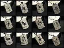 Sternzeichen Halskette mit Anhänger Kette Edelstahl Geschenk Herrenschmuck steel