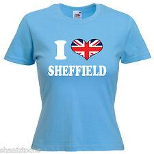 I Love Heart Sheffield Ladies Womens Lady Fit T Shirt