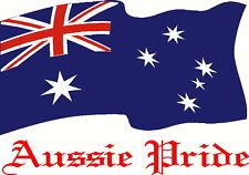 Aussie Pride Australia Flag Car, Ute, Boat,  Truck, Sticker Decal 300 x 200mm