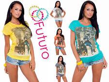 Mujer Top Casual & Estampa de Perro Cuello Redondo Camiseta Algodón Tallas 8-14
