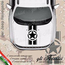 Adesivo per jeep Renegade e Wrangler per cofano con fascia e stella