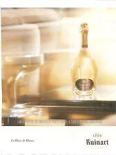 PUBLICITE ADVERTISING 2011 Champagne RUINART 1729 Le Blanc de Blancs