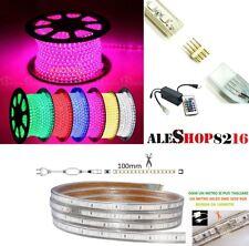 STRIP STRISCIA LED FLESSIBILE RGB MULTICOLORE TAGLIABILE DA 1 A 100 MT  ESTERNO