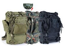 Tactical mochila trekking outdoor escalada senderismo 65l Negro Verde Oliva Camuflaje nuevo