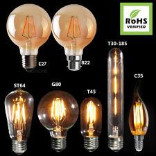 Vintage Edison filamento industrial Bombillas LED Lámpara Bombilla Válvula de radio ámbar A +