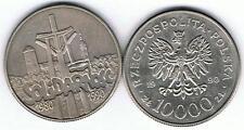 10000 Zl Sondermuenze SOLIDARNOSC  1980 - 1990  TOP,