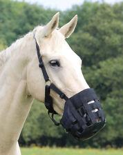 NEW Shires Nylon Adjustable Comfort Grazing Muzzle - Pony, Cob, Full, X Full