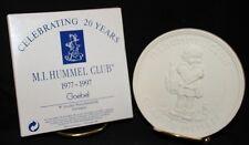 M.I. HUMMEL CHARTER CLUB MEMBER PORELAIN MEDALLION IN BOX 20 YEAR  1977-1997