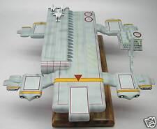 Cloudbase Captain Scarlet Spectrum Spaceship Desktop Kiln Dry Wood Model Small