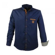 Übergröße Herren Lavecchia Hemd klassische Hemden langarm uni navy xxl 1980