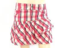 O'Neill jupe jupe d'été Couche rose blanc à carreaux ZipFly poche 5 NEUF
