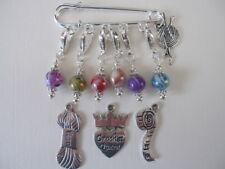 Stitch Markers - Swirl Beads - Set of 6 - Crochet / Knitting Markers - Gift