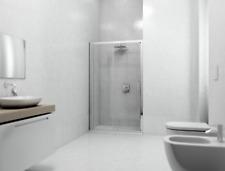 Box doccia porta scorrevole per nicchia h 195 cristallo 6mm 90 100 110 120 130