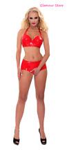Sexy Top Reggiseno Rosso Ferretto Latex Lattice Foderato Datex taglia S M L XL