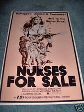 NURSES FOR SALE(1976)CURT JERGENS ORIGINAL PRESSBOOK