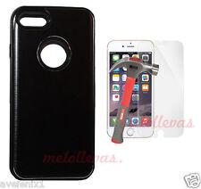 Funda Carcasa para iPhone 7 (4.7) metalica + (Protector opcional) Aluminio Negra