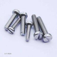 8x Zylinderschrauben Schlitz DIN 84 Edelstahl VA N5x10 bis M5x100mm Zylinderkopf