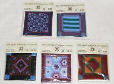 "Willits Ann Dezendorf Mini 6"" x 6"" Amish Quilt SQUARES CIRCLES 5 Designs U-Pick"
