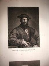 PARMIGIANINO FRANCESCO MAZZOLA.Acquaforte originale 1804 GALLERIA DI FIRENZE