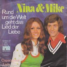 """★★ 7"""" - NINA & MIKE - Rund Um Die Welt Geht Das Lied Der Liebe"""