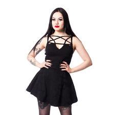 Heartless Gothic Punk Okkult Minikleid - Mai Pentagramm