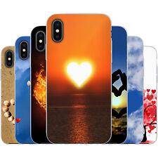 dessana Herzen TPU Silikon Schutz Hülle Case Handy Tasche Cover für Apple