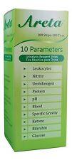 Areta Urine Dipstick 10 Parameter Urinalysis Reagent Test Strips - More Quantity