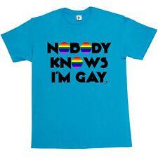 Personne ne sait que je suis gay-pride rainbow t-shirt homme