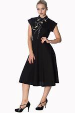 Women's Swan Lake Retro Vintage Rockabilly 50's Long Dress By Banned Apparel