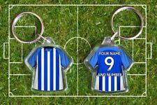 BRIGHTON football shirt KEYRING, THE SEAGULLS Fully personalised name & number