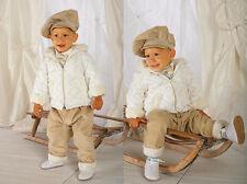 ABITO COMPLETO invernale battesimo cappotto beige panna cerimonia tg 62-86 c 321