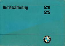 BMW 520 525 Betriebsanleitung 3/74 owners manual Bedienungsanleitung Handbuch