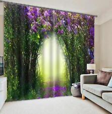 3D Blühende Bäume 2 Blockade Foto Vorhang Druckvorhang Vorhänge Stoff Fenster DE
