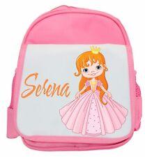Personalised niña princesa Ruck Saco / Mochila/ Bolso 4 Diseños Disponible