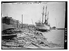 Photo of Meiji Maru ashore after typhoon in Japan