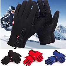 Herren Damen Thermo Winter Warm Handschuhe Finger Touch Sport Gloves Wasserdicht