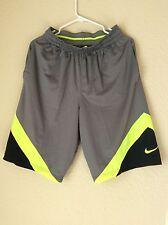 New Nike Men's Swoosh Basketball Training Dri-Fit Short Gray/Yellow 823505 037