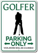 Golfer Parking Sign, Golfer Sign, Golf Lover Gift, Gift for Golfer ENSA1002511