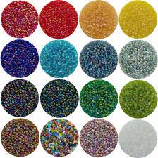 2 mm tschechische ROCAILLES böhmische Glas Perlen 11/0 DIY Basteln - 1000 Stück