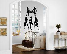 Shopaholic Shopping Woman Fashion Wall MURAL Vinyl Art Sticker Room M042