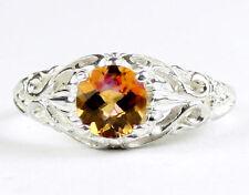 Twilight Fire Topaz, 925 Sterling Silver Ring, SR113-Handmade