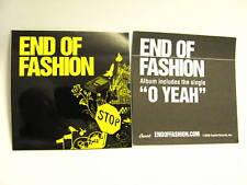 End of Fashion O Yeah Car Guitr Bike Amp Board Sticker