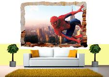 Spiderman Marvel Avengers Spider 3d rotto Muro Adesivo vista POSTER VINILE 49