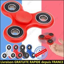 Hand Spinner Fidget Anti-Stress Rouge Blanc Bleu Noir Jouet ADHD Toupie