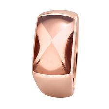 XEN Ring mit 16x10 mm großen Rauchquarz rosé-vergoldet