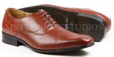 Delli Aldo Men's Pre-Owned Brown Lace Up Plain Oxford Dress Shoes M-19121