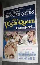 THE VIRGIN QUEEN poster BETTE DAVIS/JOAN COLLINS/RICHARD TODD original one sheet
