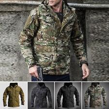 Tactical Jacket Army Warm Mens Hooded Combat Military Short Coat Hiking Pockets